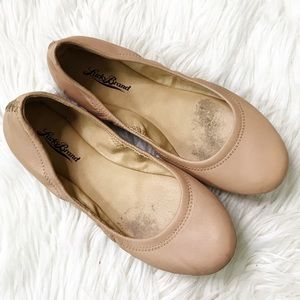 Lucky Brand : Leather 'Emmie' Ballet Flat Size 7.5